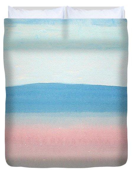 Misty Lake Original Painting Duvet Cover