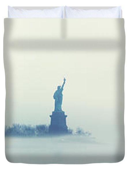 Misty Liberty Duvet Cover by Nishanth Gopinathan
