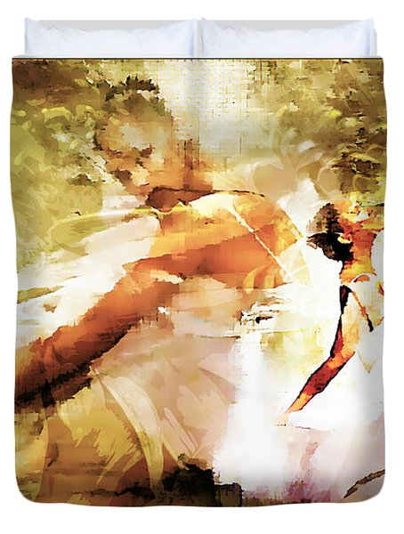 Misty 1 Duvet Cover by Lynda Payton