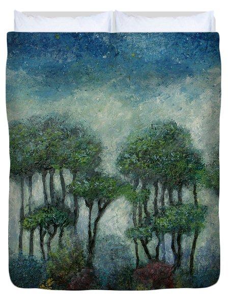 Misty Marsh Duvet Cover