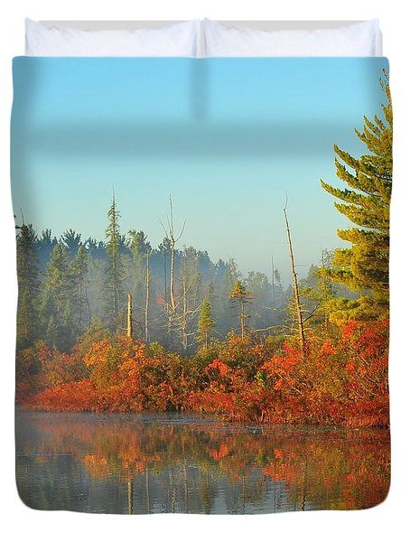 Misty Marsh Duvet Cover by Terri Gostola