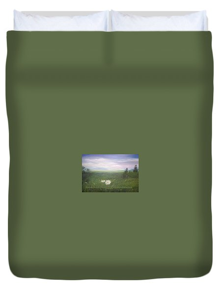 Misty Meadow Isaiah  Duvet Cover