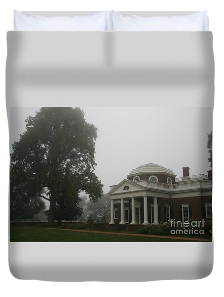 Misty Morning At Monticello Duvet Cover by Christiane Schulze Art And Photography