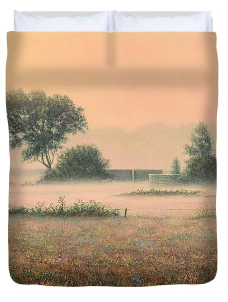 Misty Morning Duvet Cover by James W Johnson