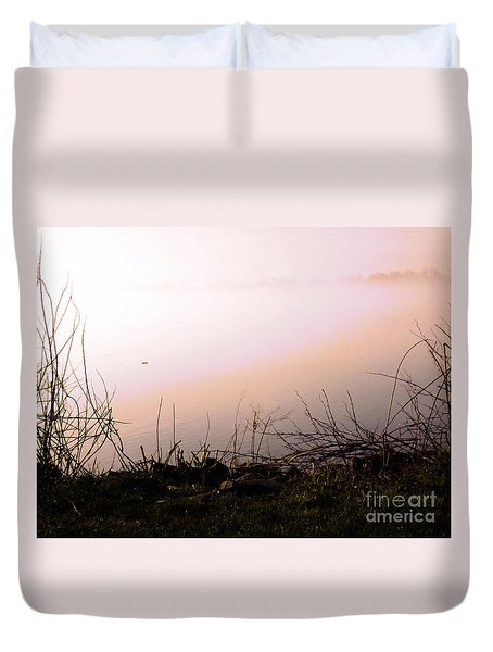 Duvet Cover featuring the photograph Misty Morning by Robyn King