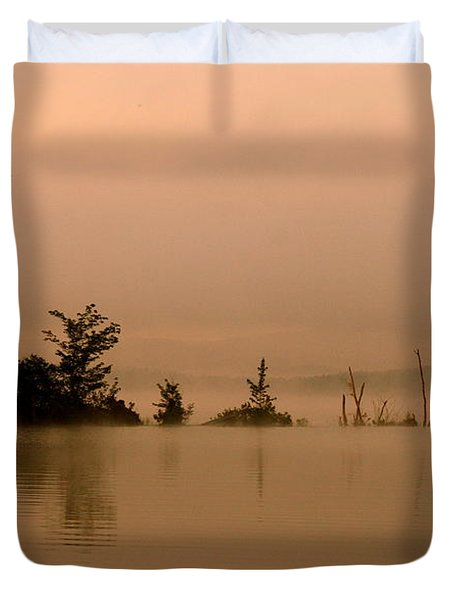 Misty Morning Solitude  Duvet Cover by Neal Eslinger