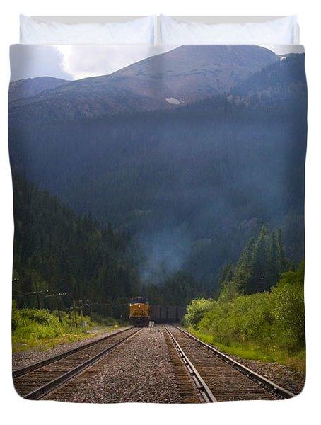 Misty Mountain Train Duvet Cover
