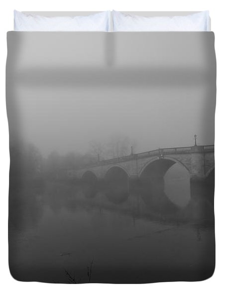 Misty Richmond Bridge Duvet Cover by Maj Seda