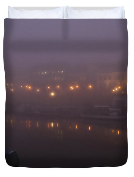 Misty Richmond Upon Thames Duvet Cover