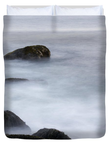 Misty Rocks Duvet Cover
