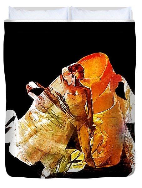 Misty Shoes Duvet Cover by Lynda Payton