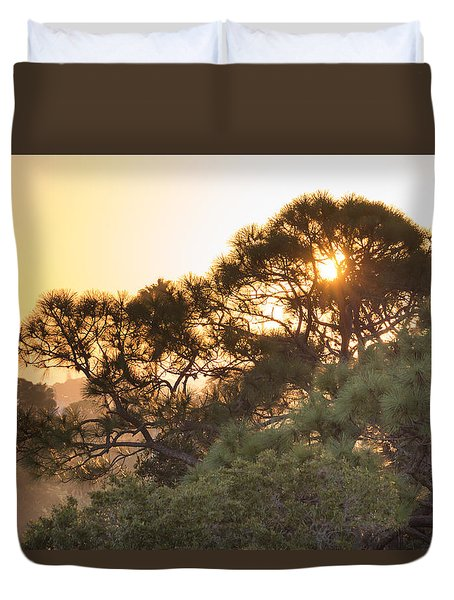 Misty Sunrise Duvet Cover