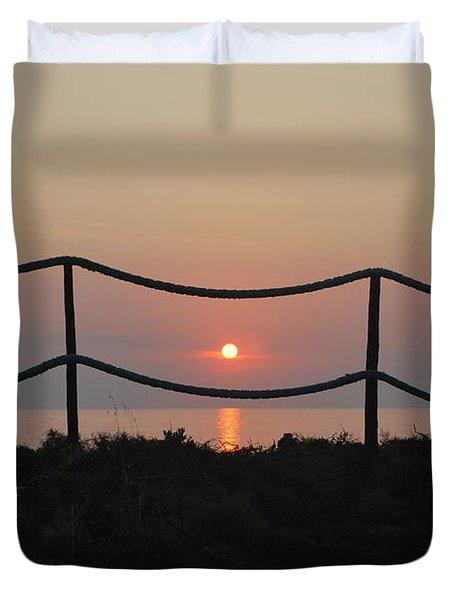 Misty Sunset 1 Duvet Cover