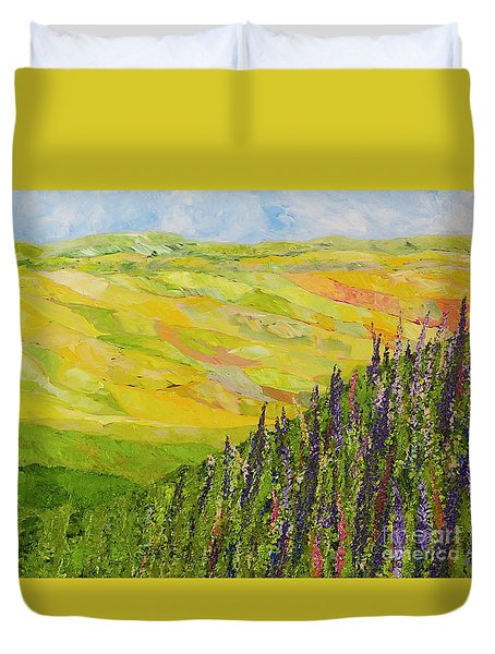 Misty Valley Duvet Cover by Allan P Friedlander