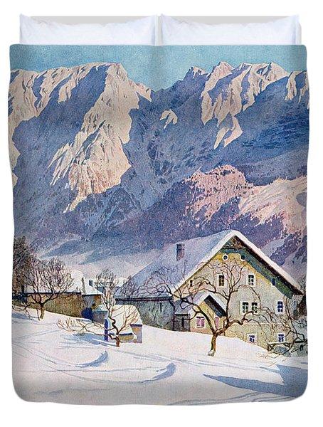 Mitterndorf In Austria Duvet Cover by Gustave Jahn