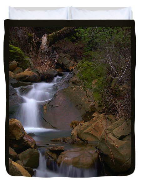 Mix Canyon Creek Duvet Cover by Bill Gallagher
