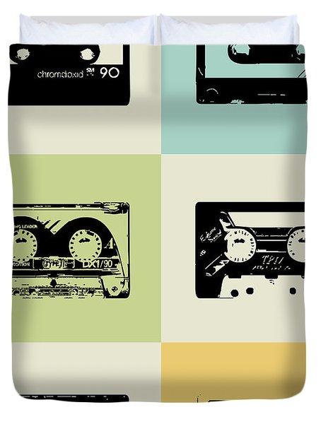 Mix Tape Poster Duvet Cover