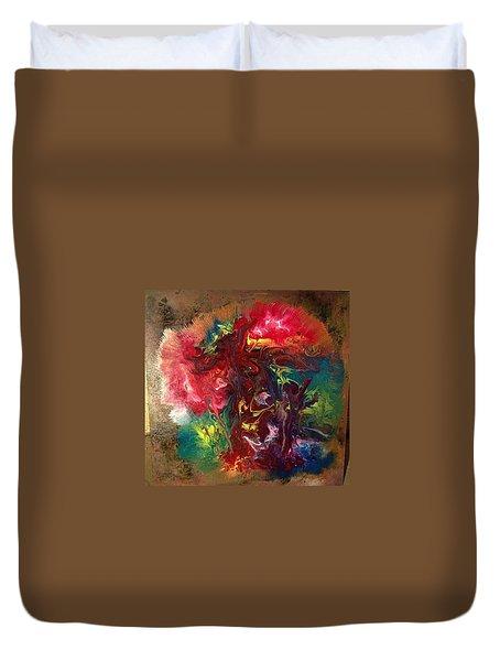 Mixed Media Abstract Post Modern Art By Alfredo Garcia Bizarre Duvet Cover