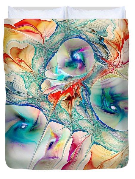 Mixed Reaction Duvet Cover by Anastasiya Malakhova