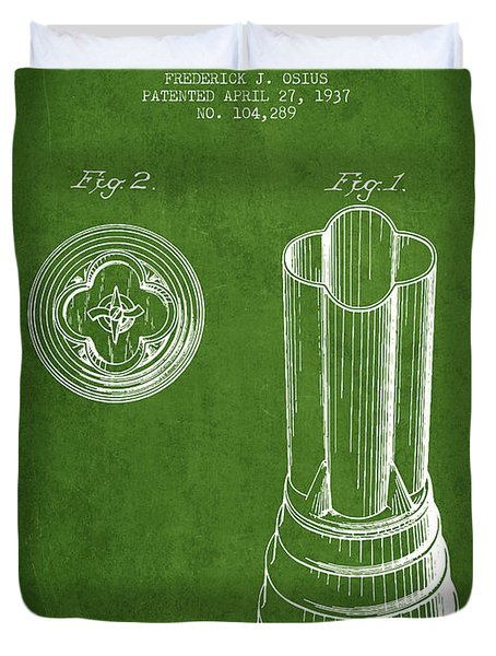 Mixer Patent From 1937 - Green Duvet Cover