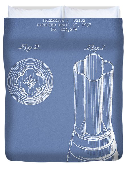 Mixer Patent From 1937 - Light Blue Duvet Cover