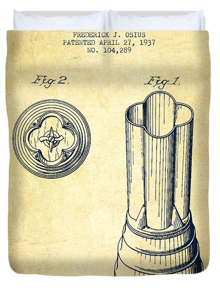 Mixer Patent From 1937 - Vintage Duvet Cover