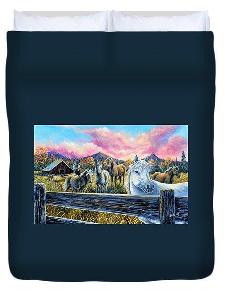 Mmmm..my Magic Mountain Moment Duvet Cover by Gail Butler