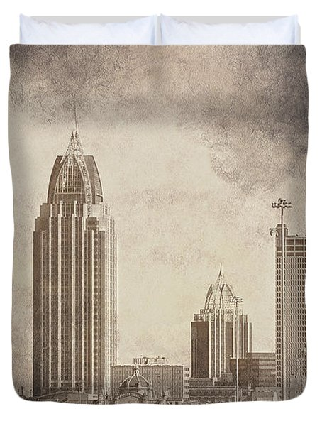 Mobile Alabama Black And White Duvet Cover