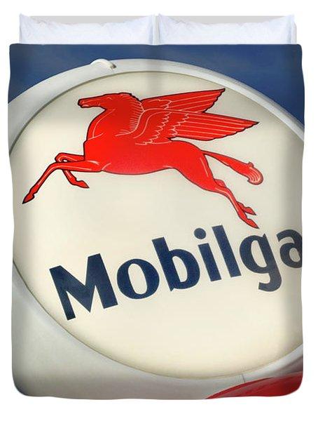 Mobilgas Globe Duvet Cover by Mike McGlothlen
