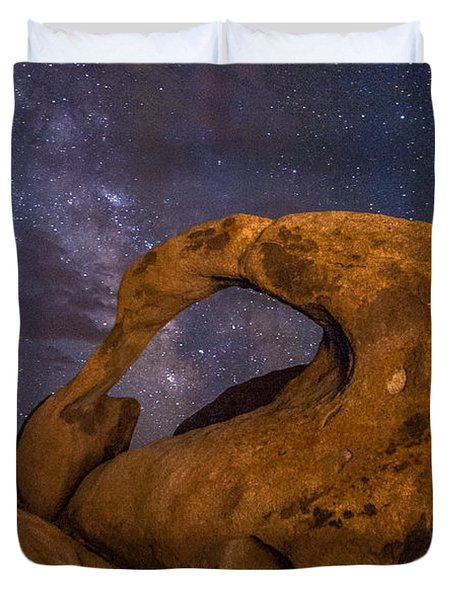 Mobius Arch And Milky Way Duvet Cover by Cat Connor