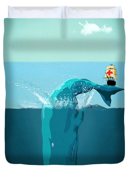 Moby Dick Duvet Cover by Mark Ashkenazi