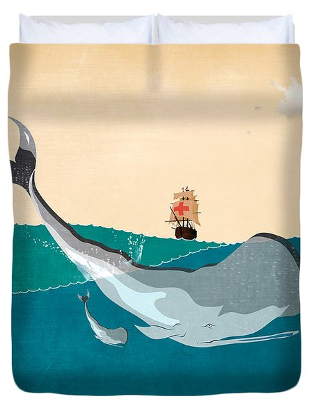 Moby Duvet Cover by Mark Ashkenazi