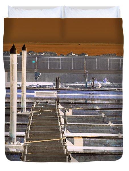 Mocha Dock 2 Duvet Cover