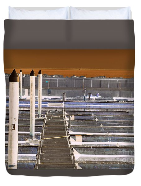 Duvet Cover featuring the photograph Mocha Dock 2 by Richard Ricci