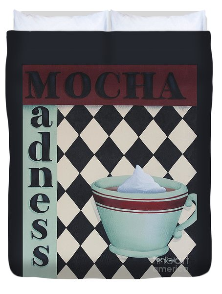Mocha Madness Duvet Cover by Catherine Holman