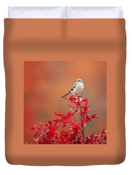 Mockingbird Autumn Square Duvet Cover