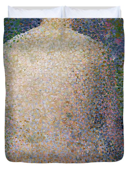 Model From The Back Duvet Cover by Georges Pierre Seurat