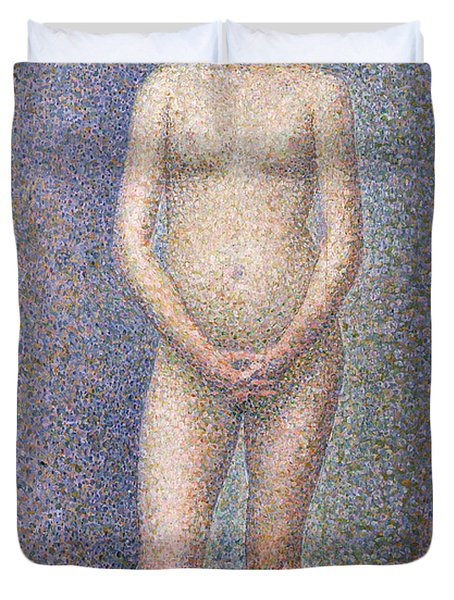 Model From The Front Duvet Cover by Georges Pierre Seurat