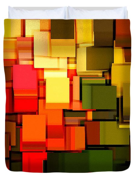 Modern Abstract I Duvet Cover by Lourry Legarde