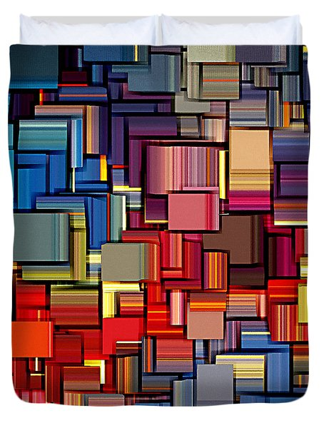 Modern Abstract Xii Duvet Cover by Lourry Legarde