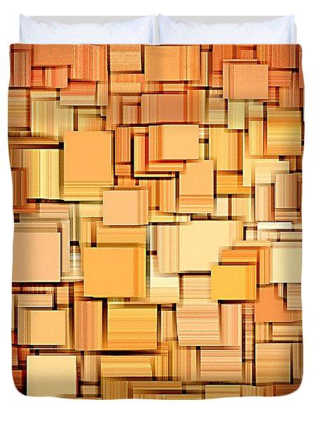 Modern Abstract Xvi Duvet Cover by Lourry Legarde