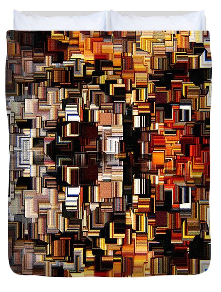Modern Abstract Xxvii Duvet Cover by Lourry Legarde