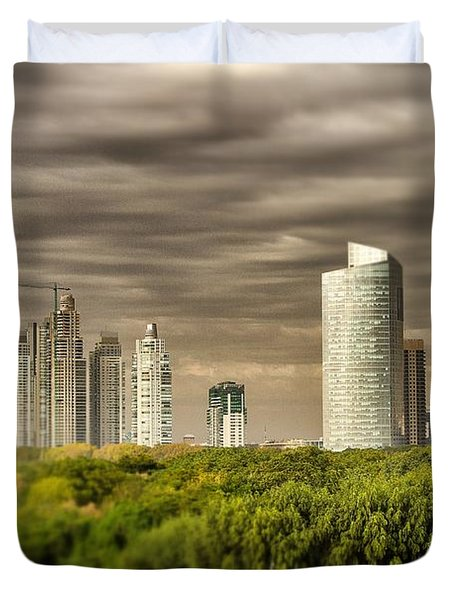 Modern Buenos Aires Tilt Shift Duvet Cover by For Ninety One Days
