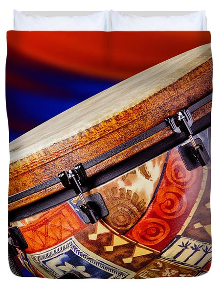 Modern Djembe African Drum Photograph In Color 3336.02 Duvet Cover