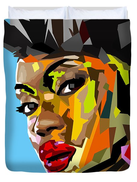 Duvet Cover featuring the digital art Modern Woman by Anthony Mwangi