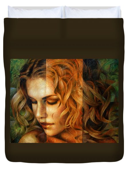 modified version of Portrait Duvet Cover by Arthur Braginsky