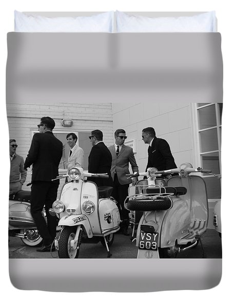 Mods And Suits Duvet Cover