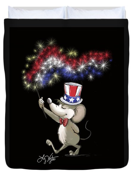 Moe's Happy 4th Of July Night Celebration Duvet Cover