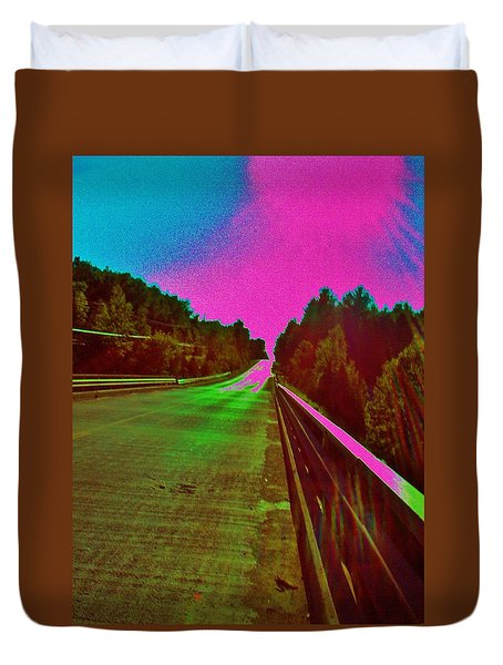 Duvet Cover featuring the photograph Moffit Bridge And Maple Ridge Rd. by Daniel Thompson