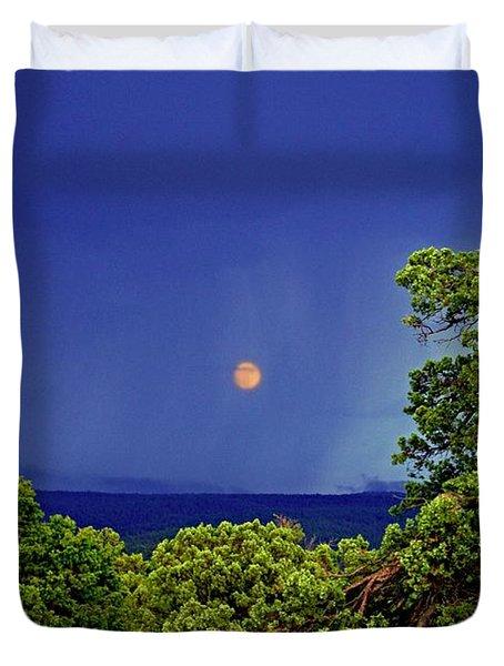 Mogollon Moon Duvet Cover